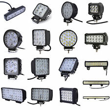 LED Work Light Bar 12/18/27/36/48/72W Spot Beam Offroad Car Truck SUV Headlight