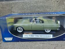Motor Max 1956 Ford Thunderbird Convertible 1:18 Scale Diecast Model Car Green