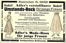 Umstandskleid Adler Berlin Reklame von 1916 Umstandskleidung schwanger Werbung