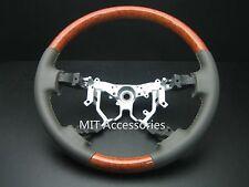 MIT Toyota TUNDRA 2007-2013 Genuine gray leather steering wheel-Light wood grain