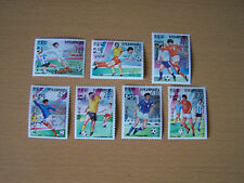 KAMPUCHEA,1985, FOOTBALL 7 VALS,U/MINT.
