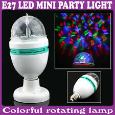 lampada a LED con disco rotante effetto discoteca