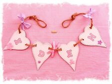 PERSONALISED NAME BABY CHILD'S GIRL WALL LETTERS BUNTING GARLAND Nursery gifts