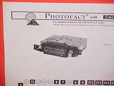 1975 PONTIAC GRAND PRIX GRANDVILLE CONVERTIBLE GTO AM-FM RADIO SERVICE MANUAL 2