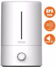 iTvanila HU-C2 Ultrasonic Humidifier Cool Mist Humidifier (BPA Free), White & Gr