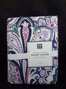 Pottery Barn Dorm Teen Vintages Paisley Duvet Cover Vintage Lavender Twin #55