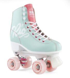 Rio Roller Script Rollschuhe Quad Skates Teal/Coral neu & ovp