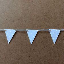 Handmade Mini/small Paper/card Bunting Shabby Chic Pale Grey And White Spots