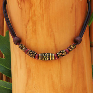 Surfer Necklace Without Pendant Leather Chain Metal Native American Kite