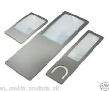 Betterlife Slimline Magnifier Set, Magnifying Glass, 3 Pack Hobby Bookmark, BNIB