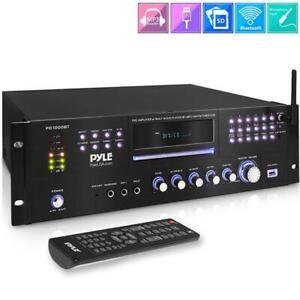 Pyle PD1000BT 1000W Stereo Speaker Audio Receiver, 4 Channel Bluetooth Amplifier