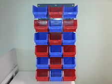 Storage rack with 18  parts bins BNIB , 94x46cms