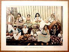 FEMMES ARABES DE MASCARA Algérie - Photochromie fin 19ème Gravure