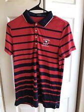 Women's Polo Golf Ralph Lauren Red Striped US Open 2019 Pebble Beach Shirt Sz Lg