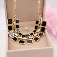 Fashion Charm Crystal Choker Chain Chunky Statement Bib Necklace Jewelry