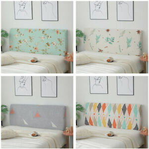 Floral Headboard Slipcover Elastic Bedside Protector Cover Bed Head Cover