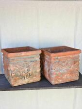 """Pair of large antique French terracotta planters from the French Riviera 16½"""""""