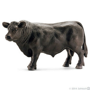 NEW SCHLEICH 13766 Black Angus Bull - Cattle Cow - RETIRED