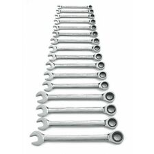 RATCHETING COMBINATION METRIC WRENCH SET 16 PC. 12 POINT