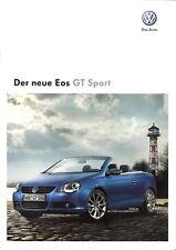 Prospekt / Brochure VW Eos GT Sport 05/2009