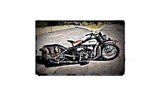 1942 Harley Davidson Wla Bike Motorcycle A4 Photo Poster