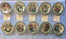 10 Lena Liu Morning Jewels Bradford Exchange 3D Hummingbird Collector Plates