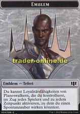 Spielstein Emblem Teferi, Erzmagier der Zeit (Token Emblem Teferi, Temporal Arch