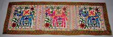 Indian Embroidered Elephant Cotton Tapestry Wall Hanging Table Bed Runner Ethnic