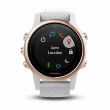 Garmin fenix 5S Rose Goldtone GPS Watch Sapphire With White Band 010-01685-16