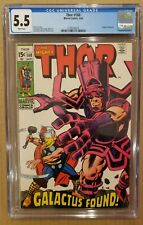 Thor #168 Origin of Galactus CGC 5.5 WHITE PAGES 1969 FN-