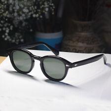 Large Vintage Johnny Depp sunglasses mens black glasses G15 green polarized lens