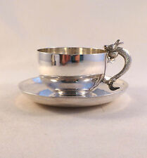 Figural Chinese? Dragon Sterling Cup & Saucer(s)