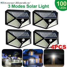 New listing 100 Led Solar Power Wall Lights Pir Motion Sensor Outdoor Garden Lamp Waterproof