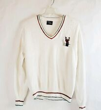 VTG Cypress Links Men's Ivory Golf Graphic Knit Cotton Pullover Sweater Size M