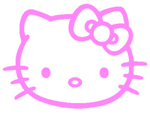 Hello Kitty Style Wall Window Sticker Vinyl Decal Many Colours & Sizes