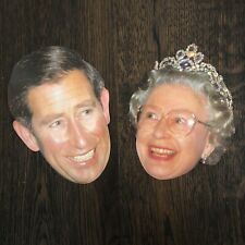 1995 Queen Elizabeth II Queen Mother Prince Charles Postcard Face Head With Flaw
