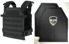 Level IIIA 3A | Body Armor Inserts | Bullet Proof Vest | BAM Sentry Vest -Black