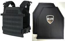 Level IIIA 3A | Body Armor Inserts | Bullet Proof Vest | BAM Sentry Vest -Black