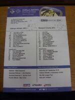 08/09/2018 Colour Teamsheet: Oldham Athletic v Newport County (folded, team chan