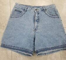 Authentic Northern Denim Womens Shorts Size 15/16 Floral Embroidered Trim -010