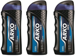 Arko Men Aftershave Cologne, Cool Edition 250ml - Great Smell - (3 Pcs Offer)