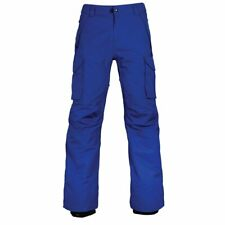 new 686 Infinity Men's XXL Insulated Cargo Snowboard Ski Pants cobalt Waterproof