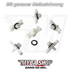 10x ZIERLEISTEN KLAMMER MIT RING KLIPS AUDI VW GOLF JETTA GOLF PASSAT T3 #NEU#