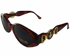 1980s Ladies Retro Brown Tortoise Shell Tinted Sunglasses BB UV400 Protection
