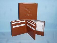 DETROIT TIGERS   Leather BiFold Wallet    NEW    brown 4 +
