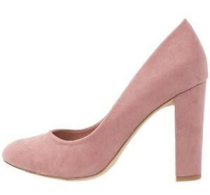 NEW LOOK SIZE 3 4 6 WIDE FIT DUSTY PINK F SUEDE HIGH SLIM HEEL COURT SHOES NEW
