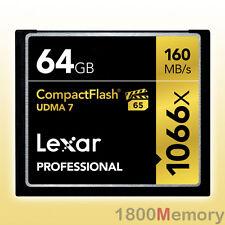 GENUINE Lexar 64GB Professional 1066X Compact Flash CF 160MB/s UDMA7 VPG-65 HD