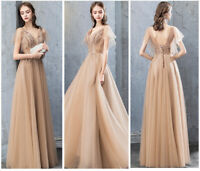 NEW Evening Formal Party Ball Gown Prom Bridesmaid Embroidery Long Host Dress