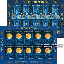 Azerbaigian Azerbaijan EUROPA CEPT 2009, astronomia, piccolo arco ** Fresco Posta