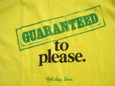 Never Worn! early 80s vtg Holiday Inn Hotel yellow Promo T Shirpt 50/50 medium